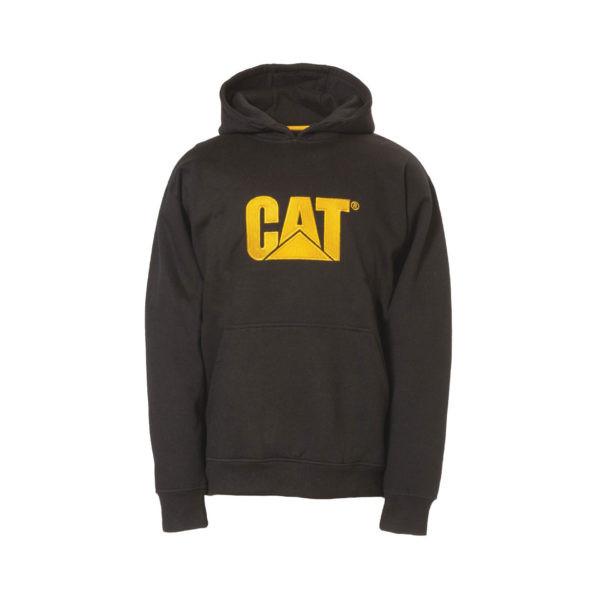 Džėmperis su gobtuvu CAT (juodas)