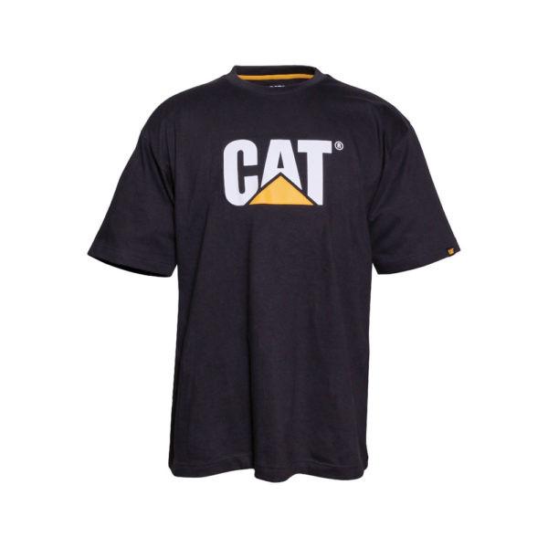 Juodi marškinėliai CAT